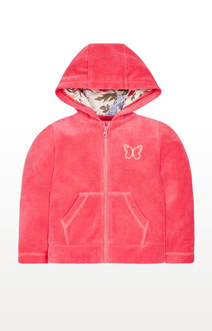Mothercare | Pink Zip Through Hoodie