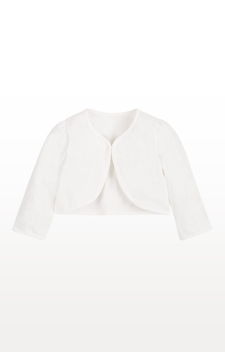 Mothercare | White Jersey Bolero