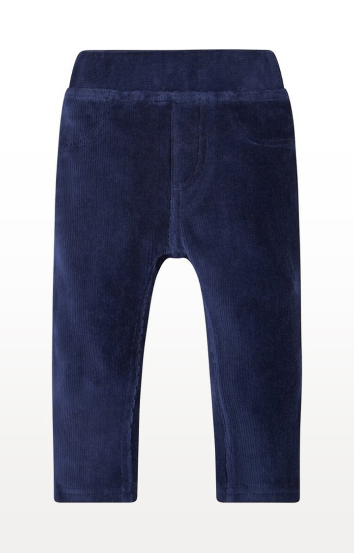 Mothercare | Navy Printed Velour Cord Jeggings