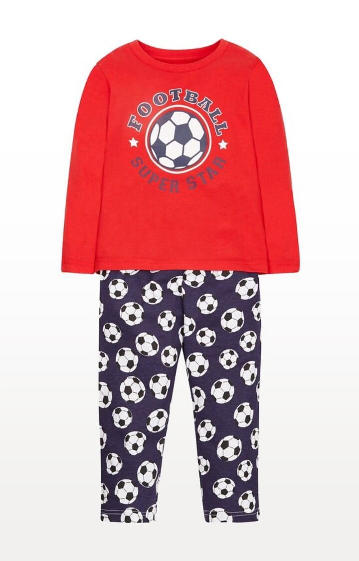Mothercare   Green Printed Football Superstar Pyjamas