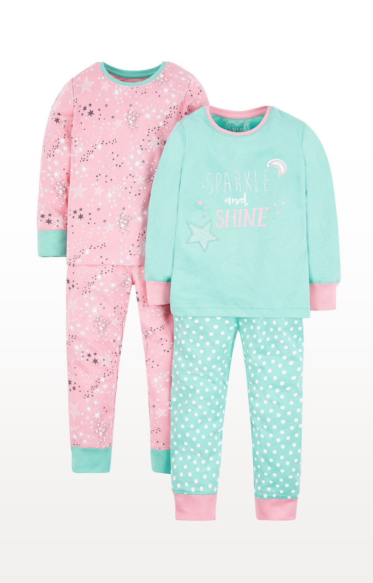 Mothercare | Sparkle and Shine Pyjamas - Pack of 2