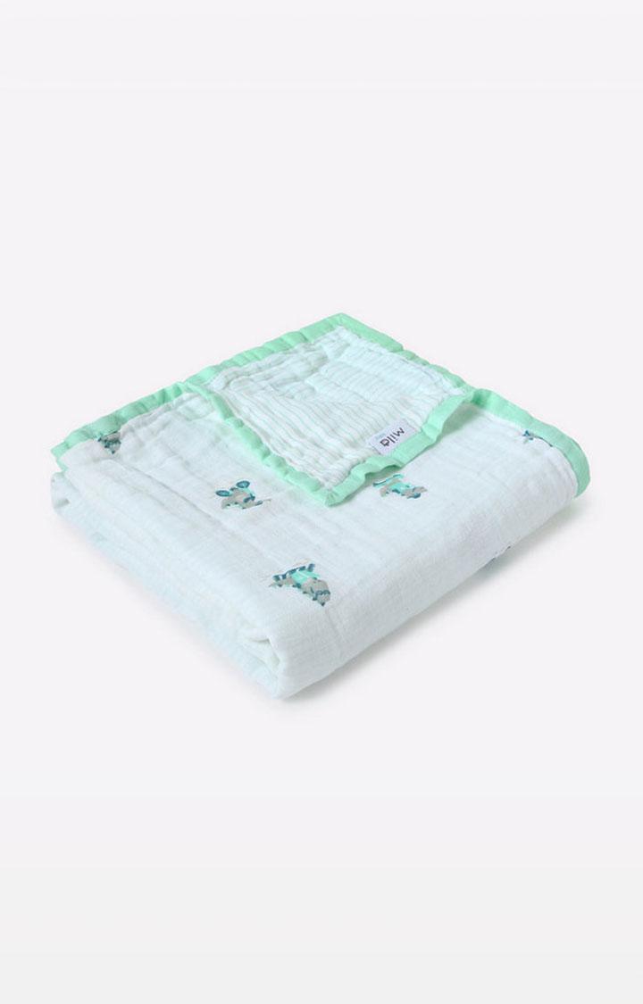 Mothercare | Mila Baby Dinosaur Layered Muslin Blanket