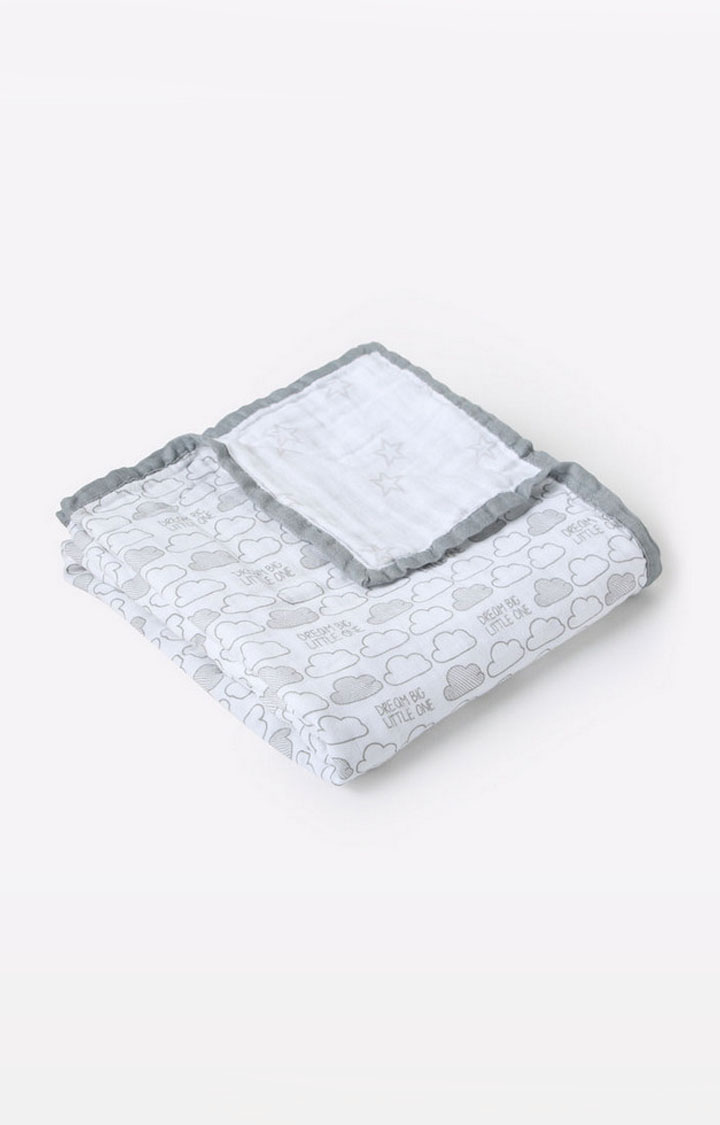 Mothercare | Mila Baby Clouds And Stars Muslin Blanket