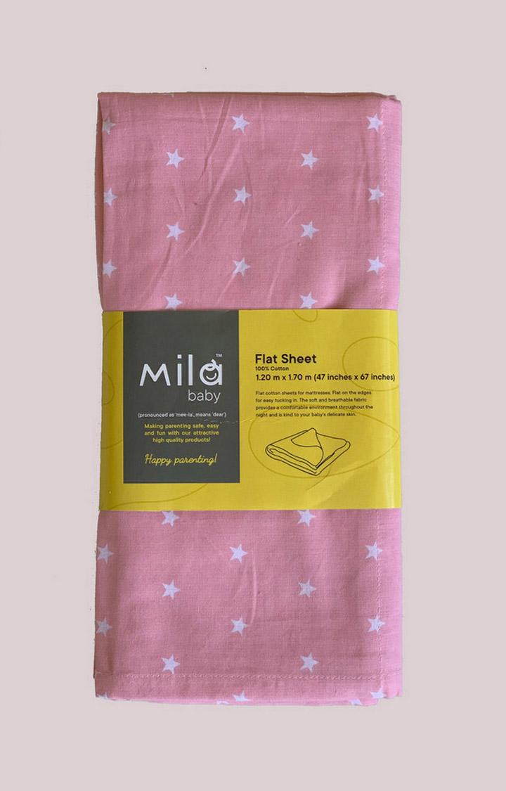 Mothercare | Mila Baby Pink Stars Flat Sheet