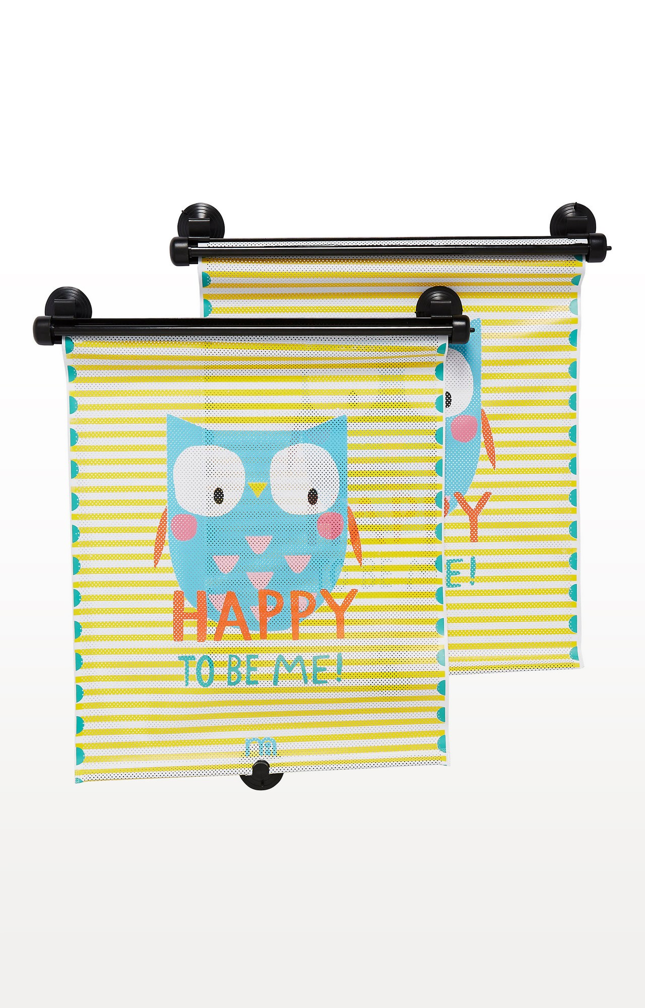 Mothercare | Multicoloured Retractable Happy To Be Me Sunblind - Set of 2