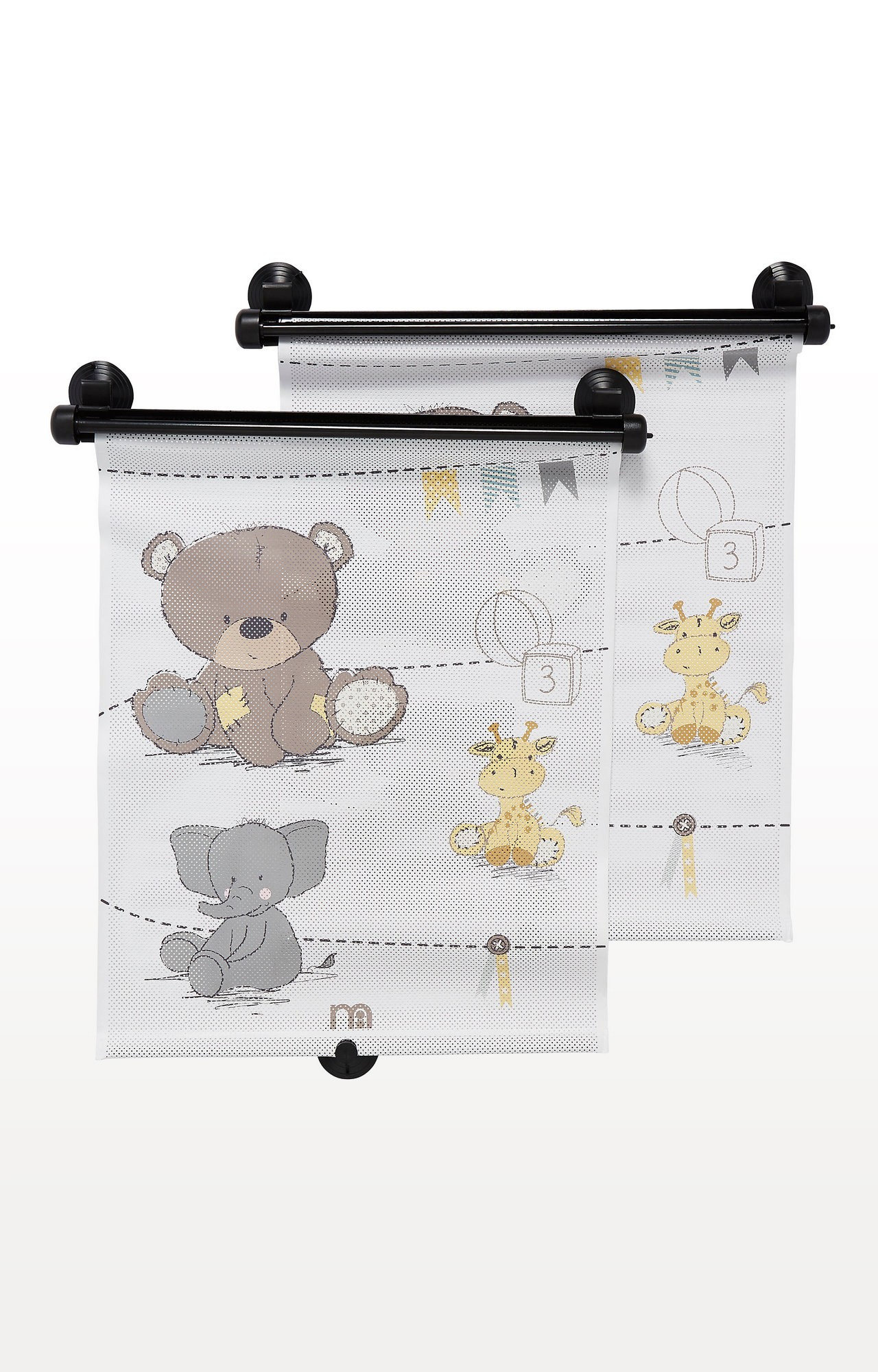 Mothercare | Multicoloured Retractable Teddy's Toy Box Sunblind - Set of 2