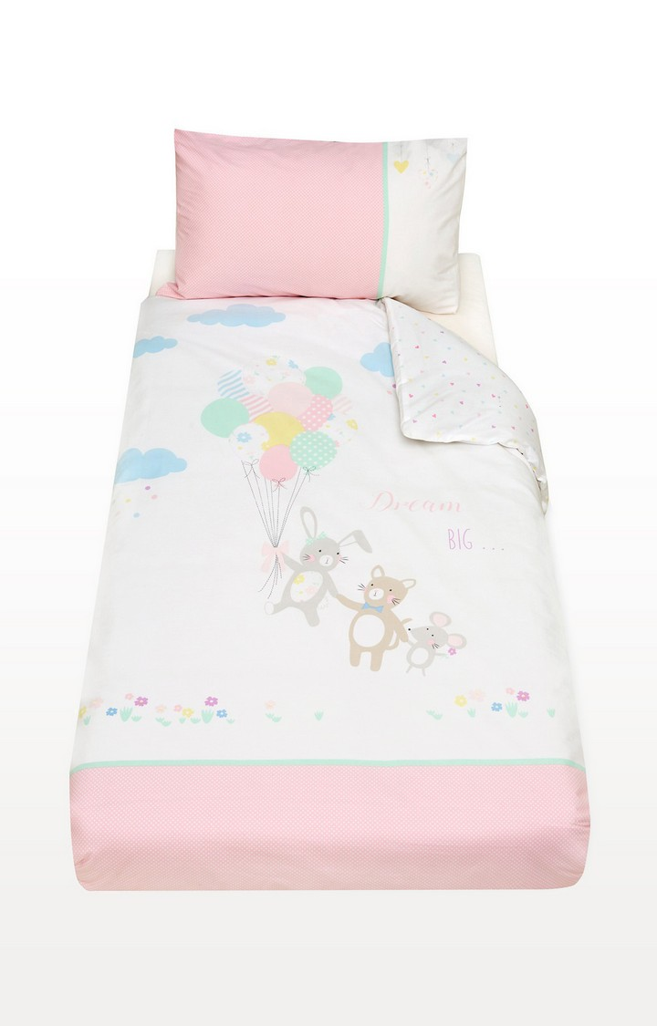 Mothercare | Pink Confetti Party Cot Bed Duvet Set