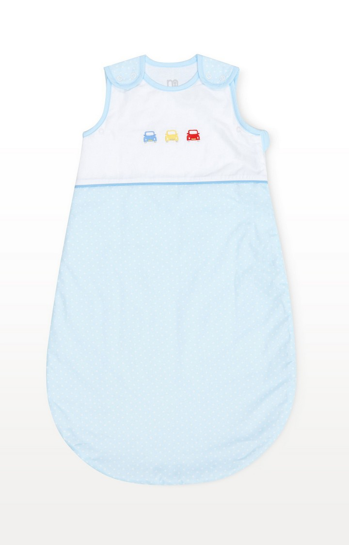 Mothercare | Blue On The Road 0-6 Months Snoozie Sleep Bag - 1 Tog