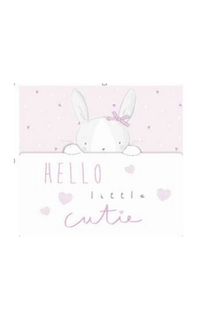 Mothercare | My First Baby Girl Bunny Card