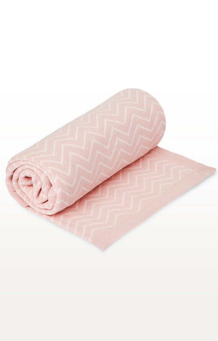 Mothercare | Pink Welcome Home Chevron Knitted Blanket