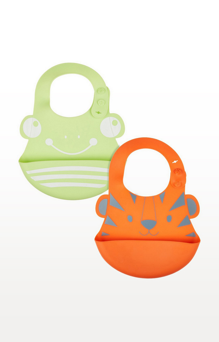 Mothercare   Silicone Toddler Crumbcatcher Bibs - Pack of 2