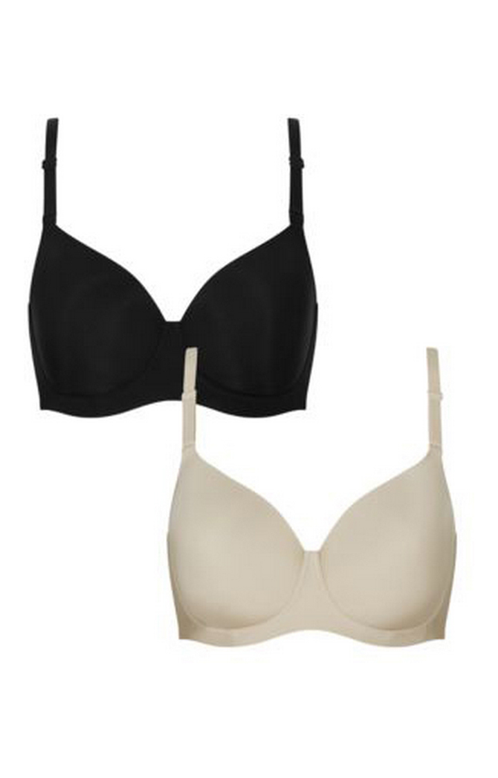 Mothercare   Black and Beige Basic Bra - Pack of 2