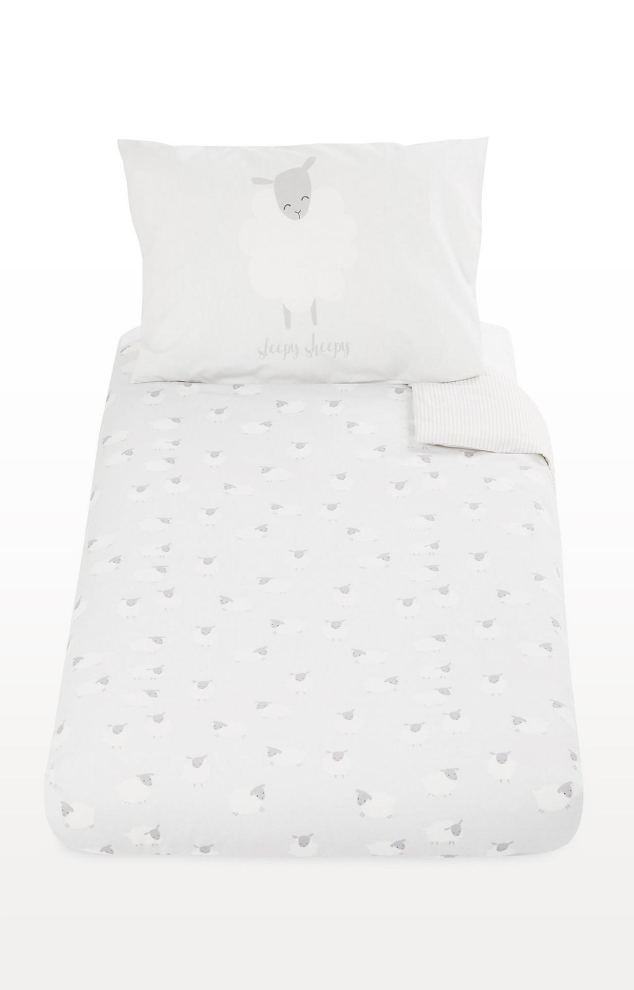 Mothercare   White Sheep Cot Bed Duvet Set