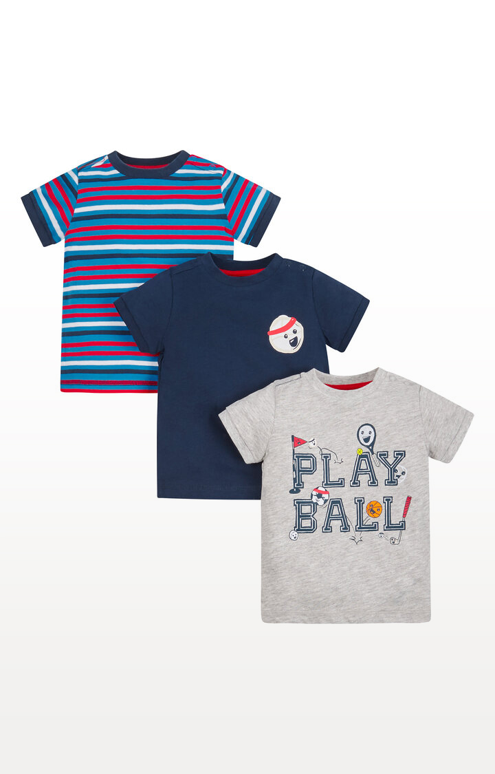 Mothercare | Play Ball T-Shirts - Pack of 3