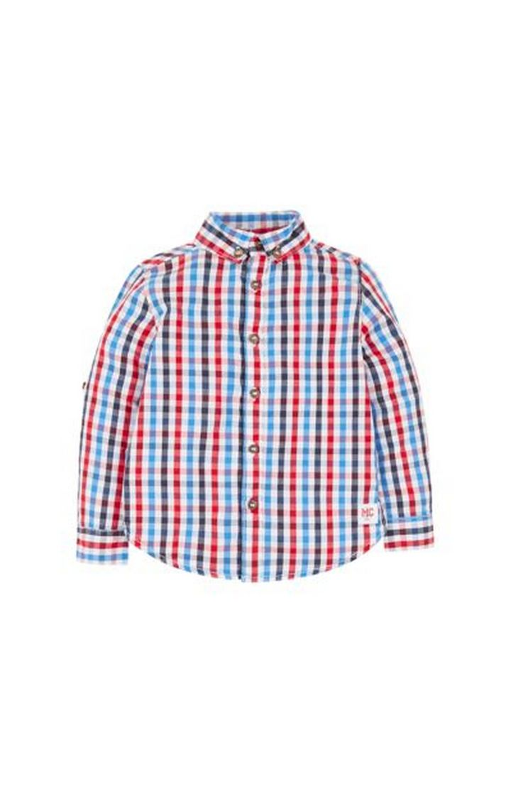 Mothercare | Blue, Red And White Check Shirt