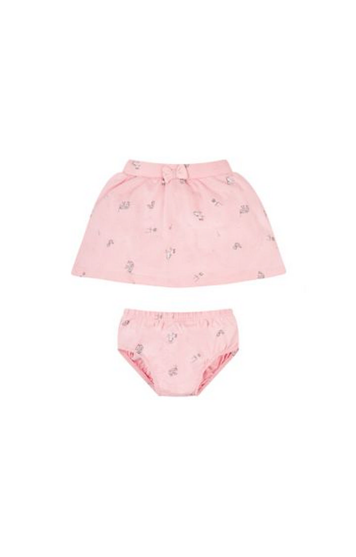 Mothercare   Pink Printed Skirt with Panty