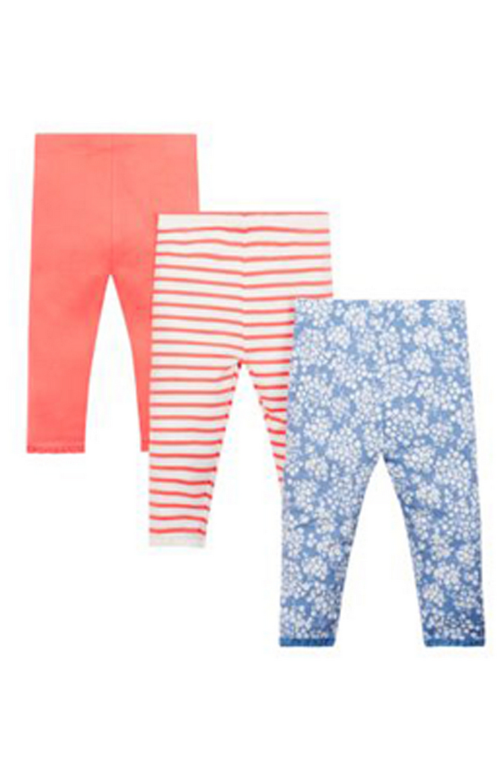Mothercare | Orange and Blue Printed Trousers - Pack of 3