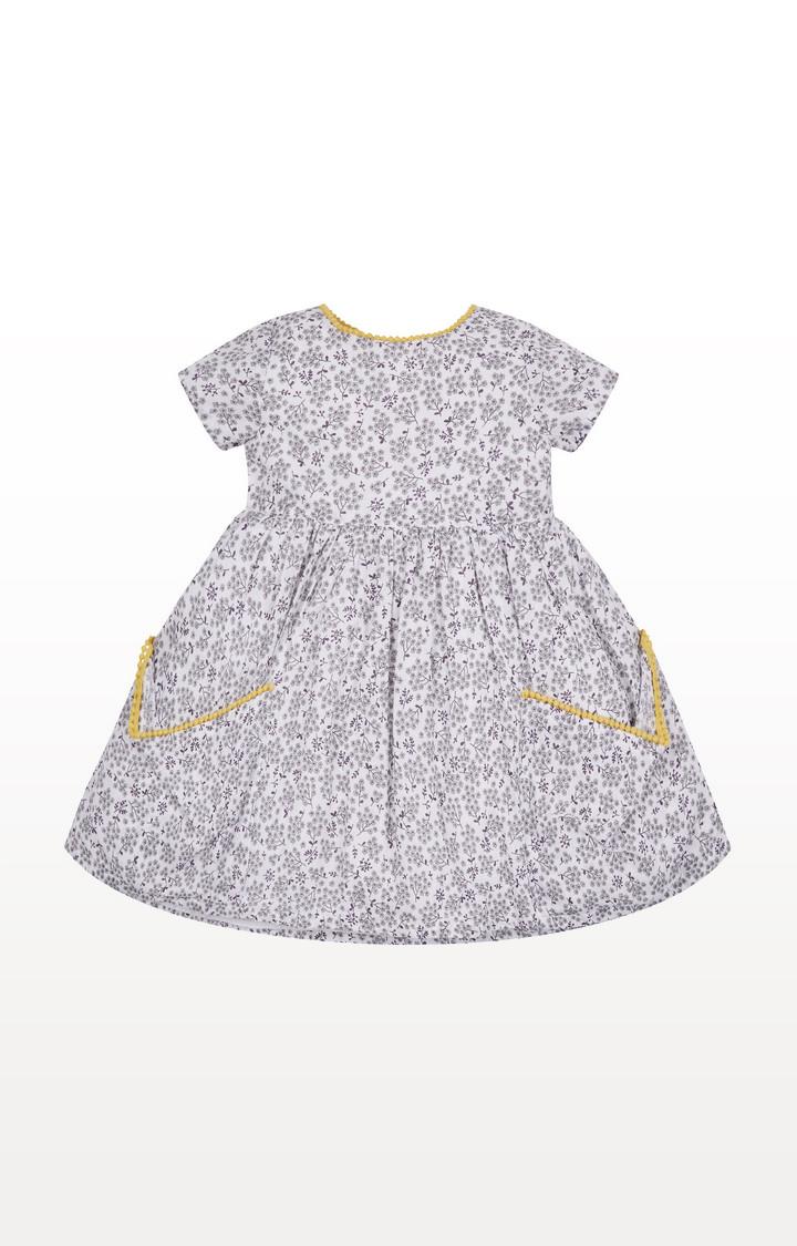 Mothercare | Grey Floral Pocket Dress