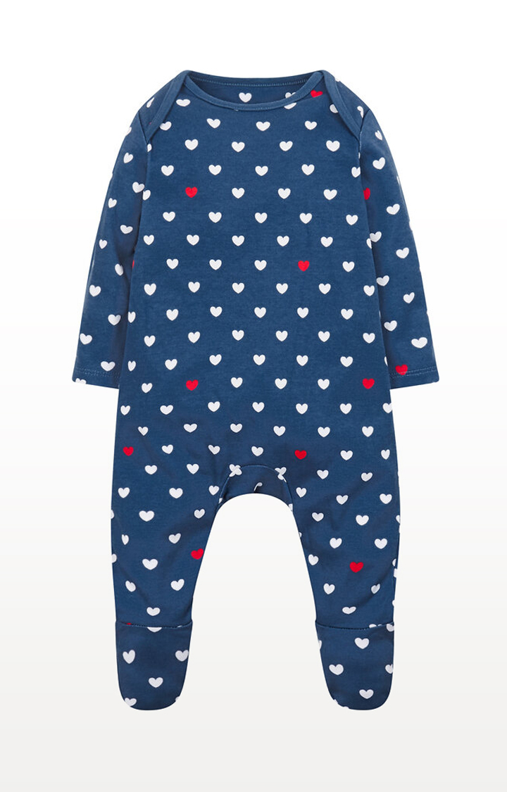 Mothercare | Navy Heart All In One