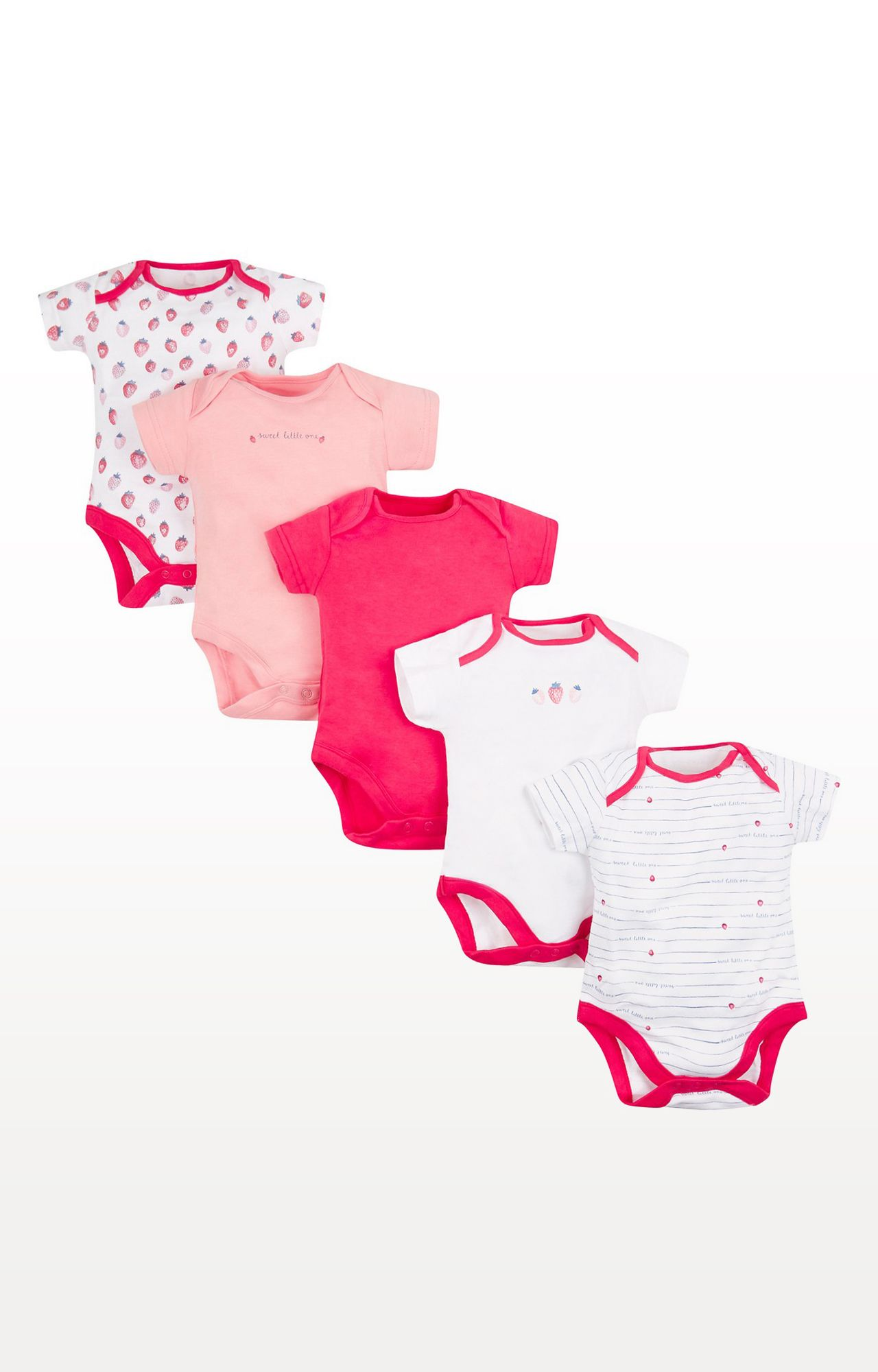 Mothercare   Strawberry Bodysuits - Pack of 5