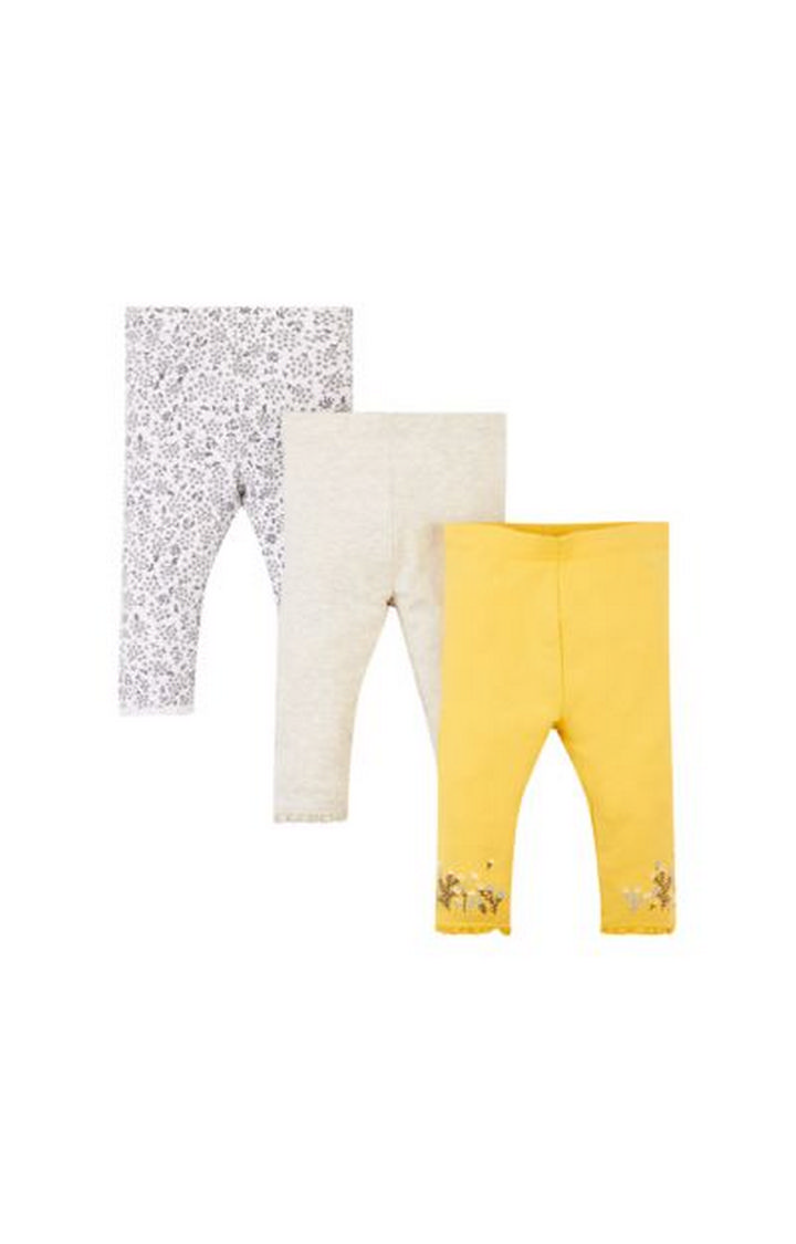 Mothercare   Multicoloured Printed Leggings - Pack of 3
