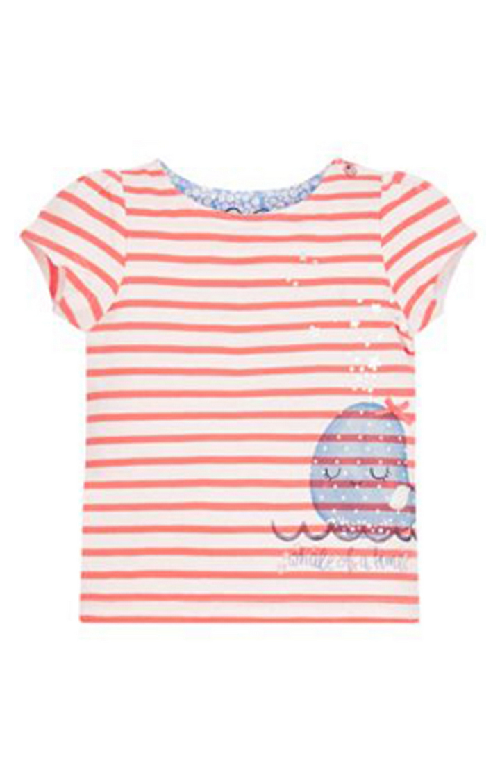 Mothercare | Coral Striped Top