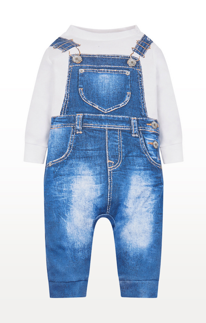 Mothercare | Denim Dungaree Tromp L'Oeil All In One