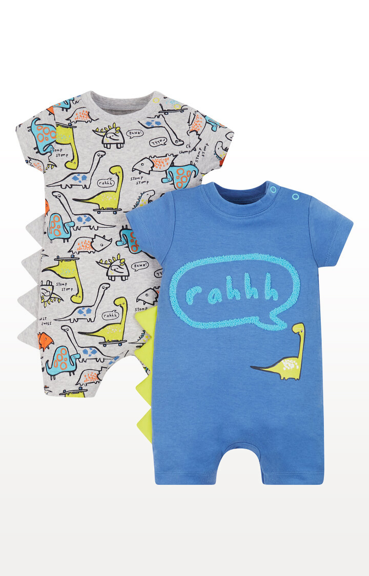 Mothercare | Dinosaur Rompers - Pack of 2
