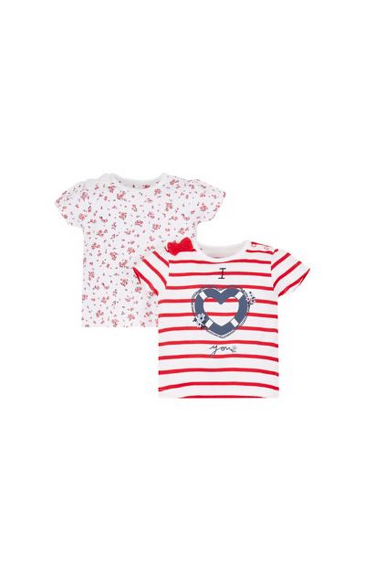 Mothercare | Red Printed Top - Pack of 2