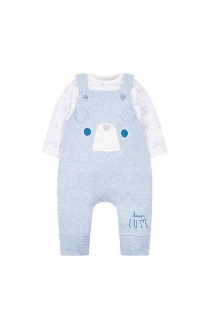 Mothercare | My First Beary Cute Dungarees And Bodysuit Set