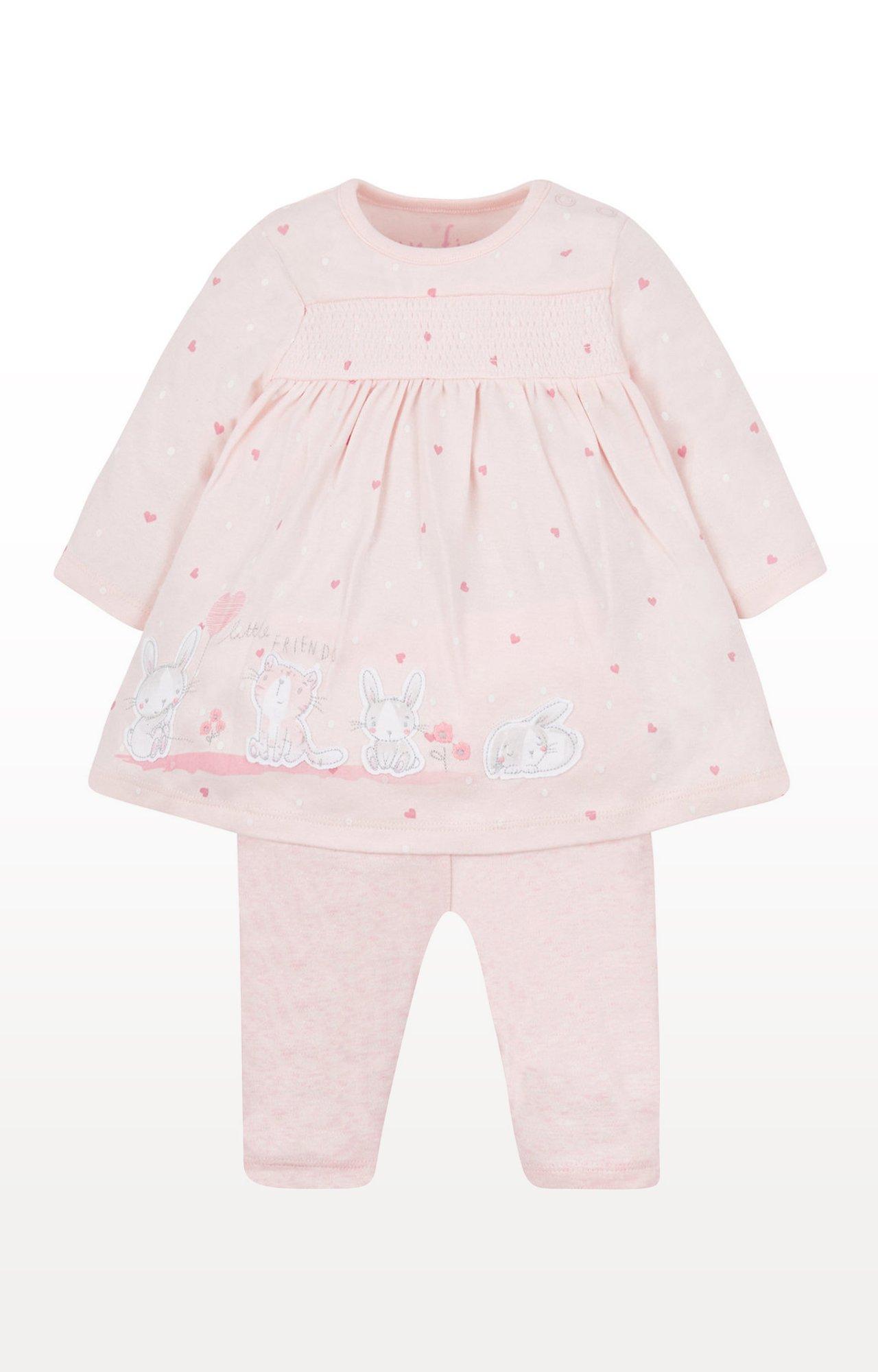 Mothercare | Pink Printed Top and Pant Set