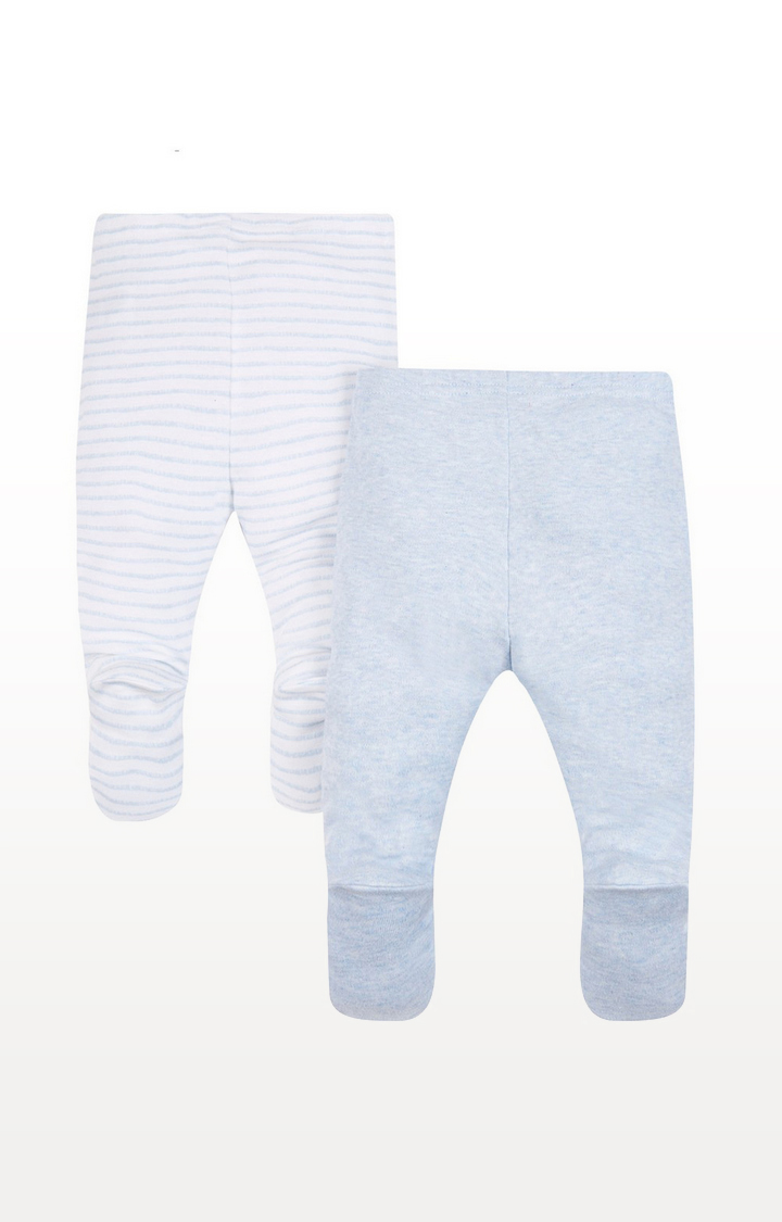 Mothercare | My First Grey And Striped Leggings - 2 Pack