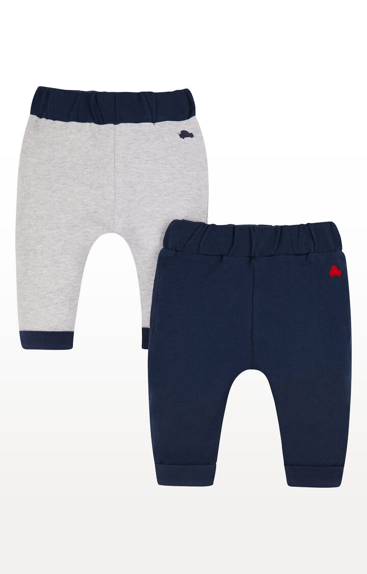 Mothercare | Grey and Navy Joggers - Pack of 2