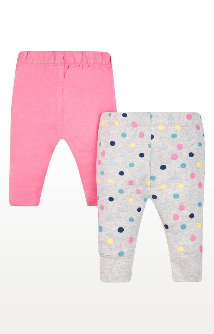 Mothercare | Pink and Spot Leggings - Pack of 2