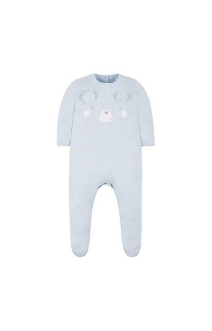 Mothercare | Blue Solid Rompers