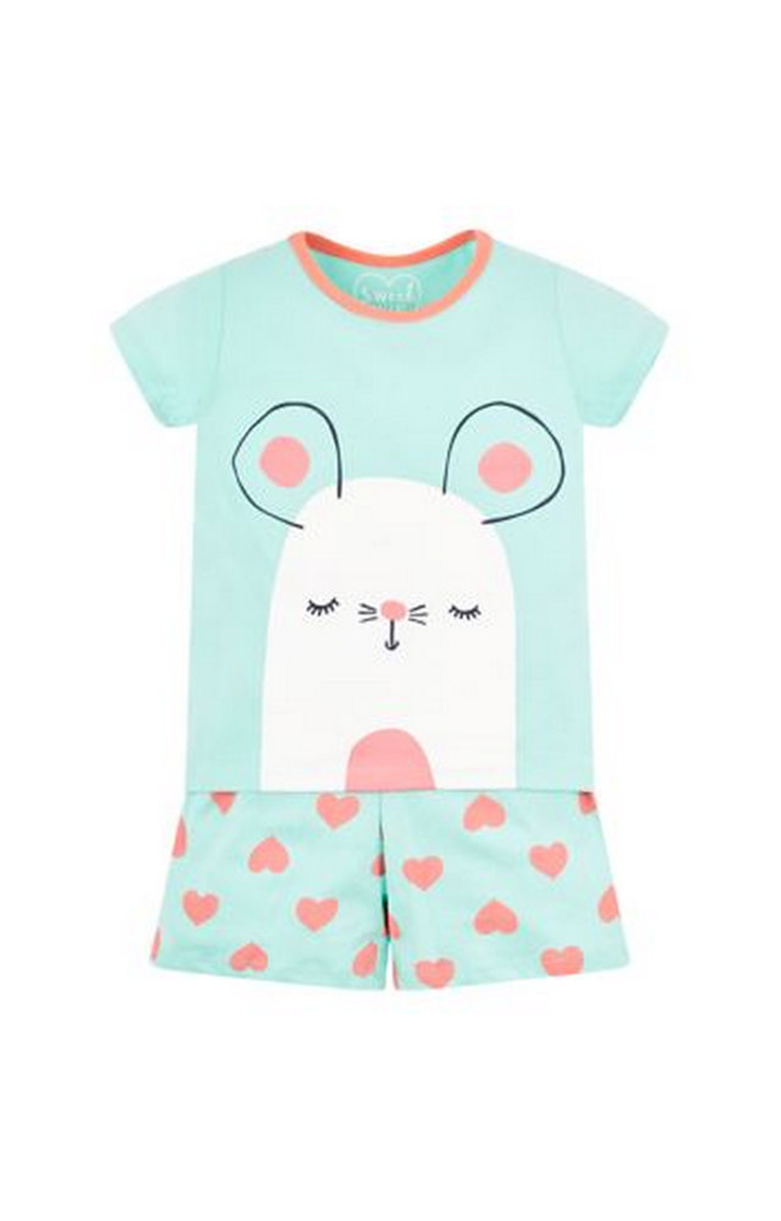 Mothercare | Turquoise Printed Nightsuit