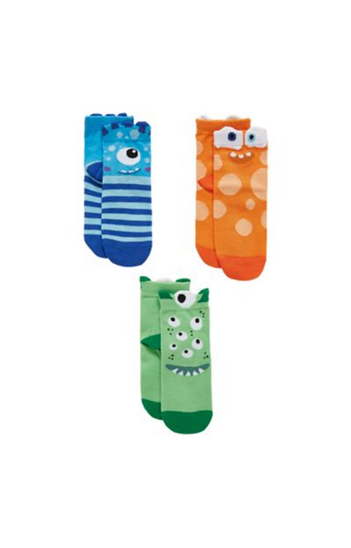 Mothercare | Multicoloured Printed Socks - Pack of 3