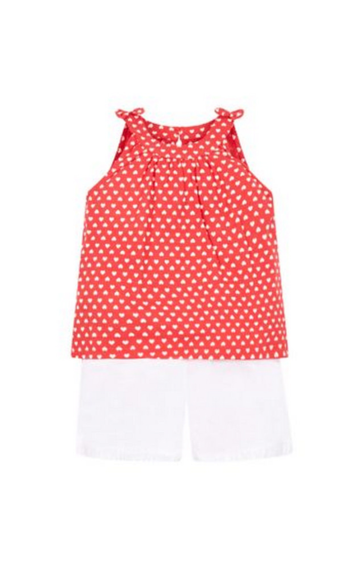 Mothercare   Red Heart Vest And Shorts Set