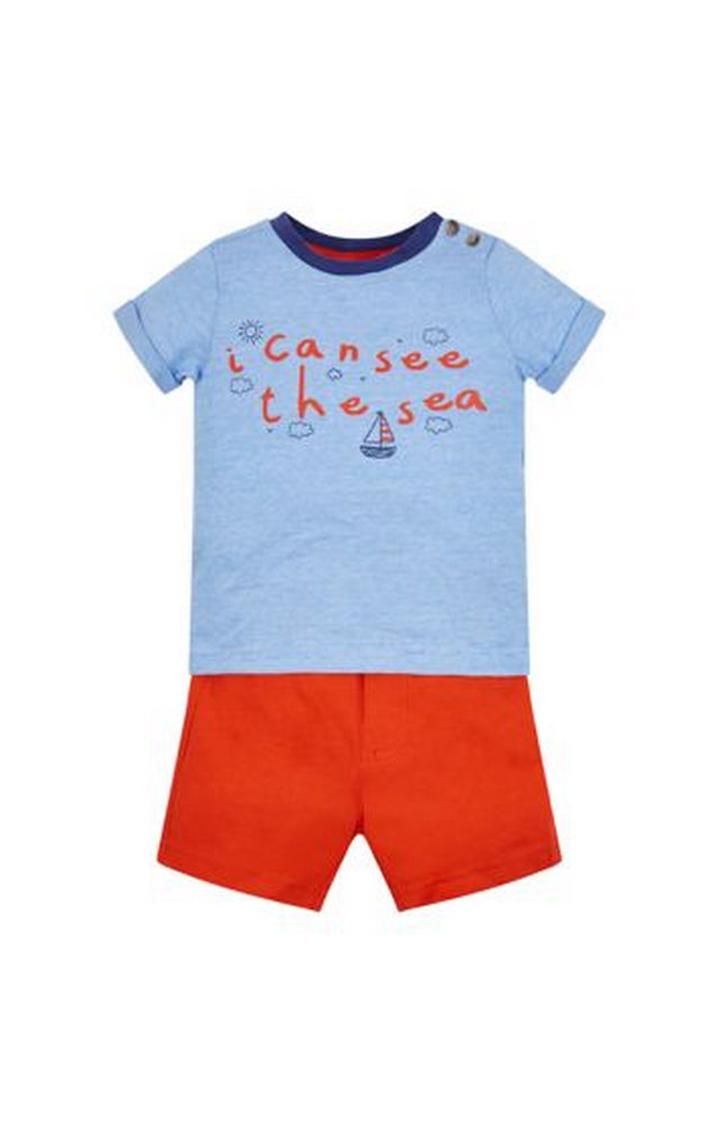 Mothercare | See The Sea T-Shirt And Shorts Set