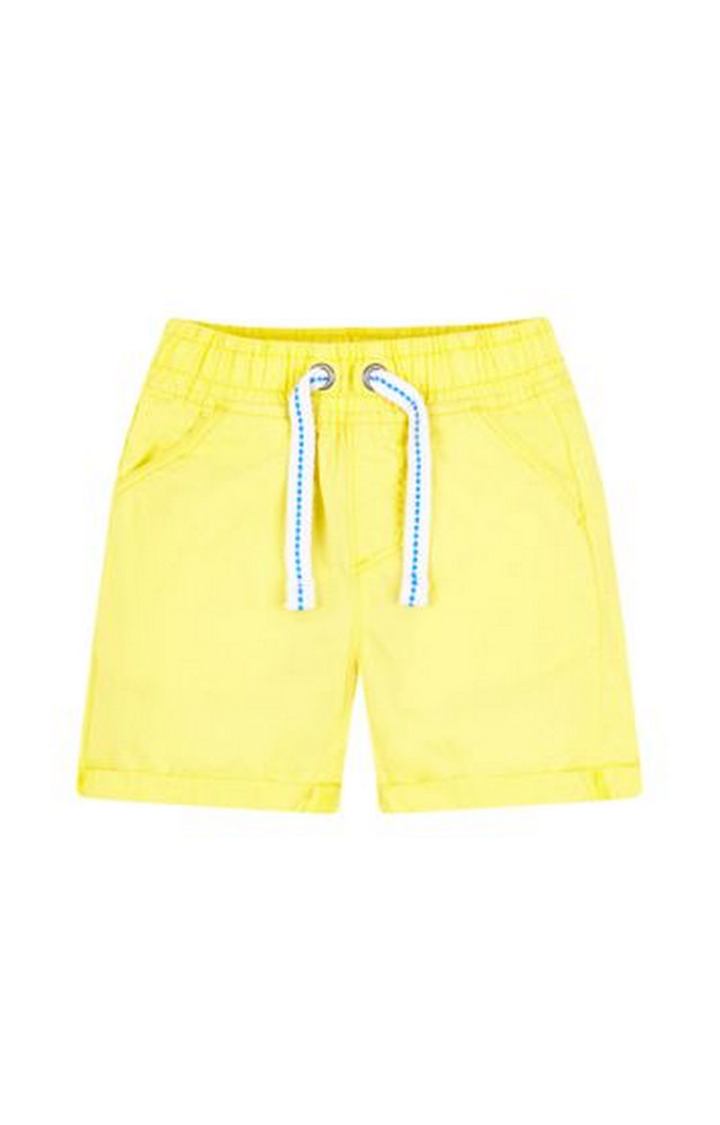 Mothercare   Yellow Solid Shorts