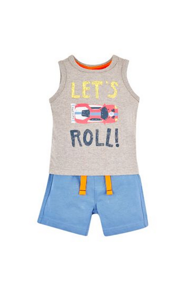 Mothercare | Let'S Roll Top And Shorts Set