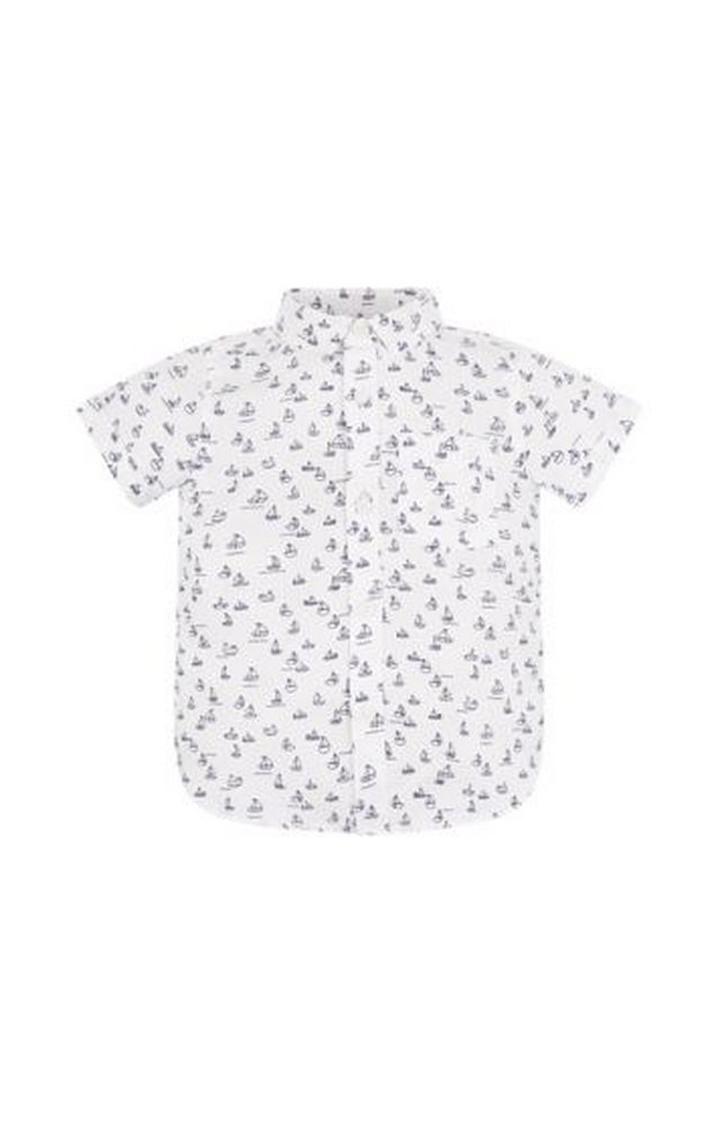 Mothercare   White Printed Shirt
