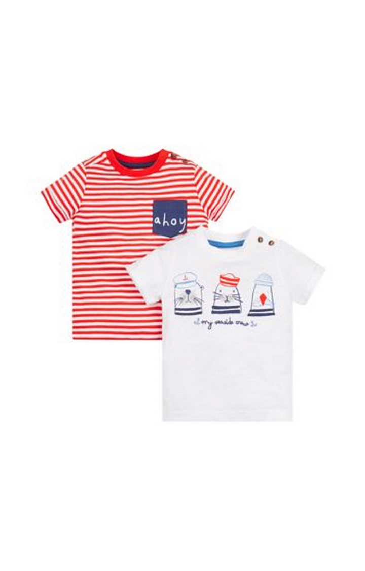 Mothercare | Striped Nautical T-Shirts - 2 Pack