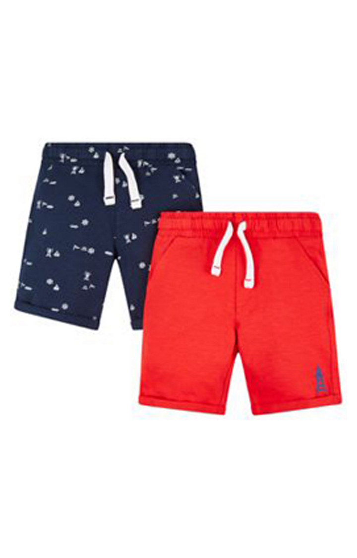Mothercare | Navy and Red Printed Shorts - Pack of 2