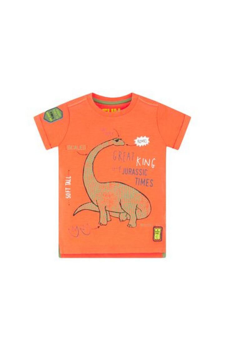 Mothercare   Orange Printed T-Shirt