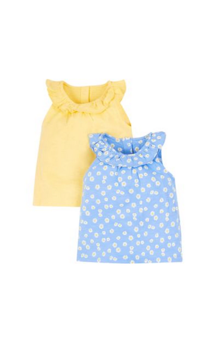 Mothercare | Blue and Yellow Printed Top - Pack of 2