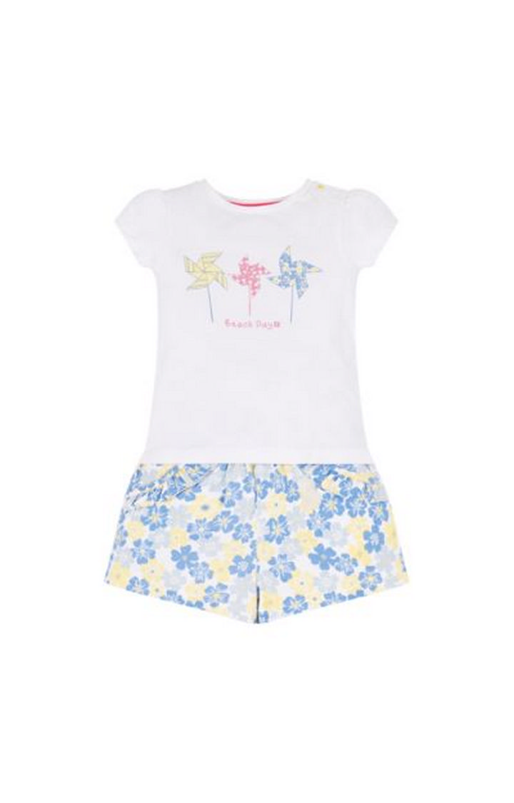 Mothercare | White Printed Twin Set