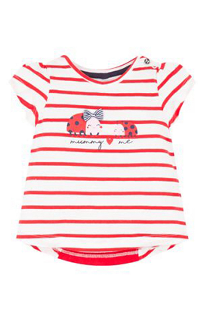 Mothercare | White and Red Striped Top