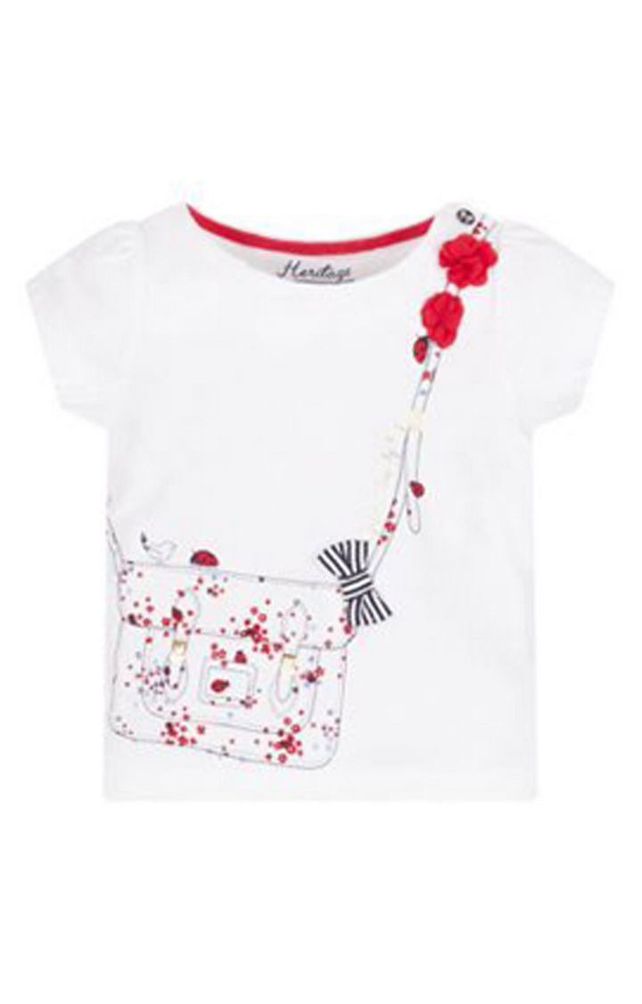 Mothercare | White and Red Printed Top