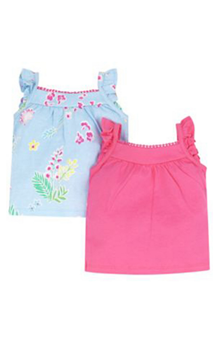 Mothercare | Blue and Pink Printed Top - Pack of 2